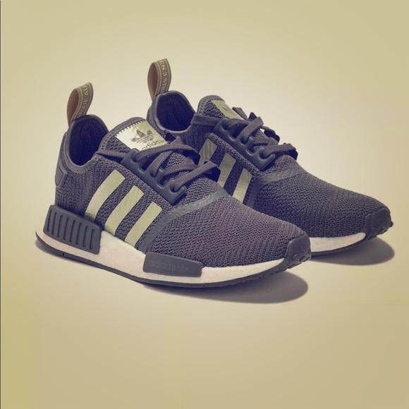 Adidas Shoes Originals Nmd R1 Shoe Grey Gold White Poshmark